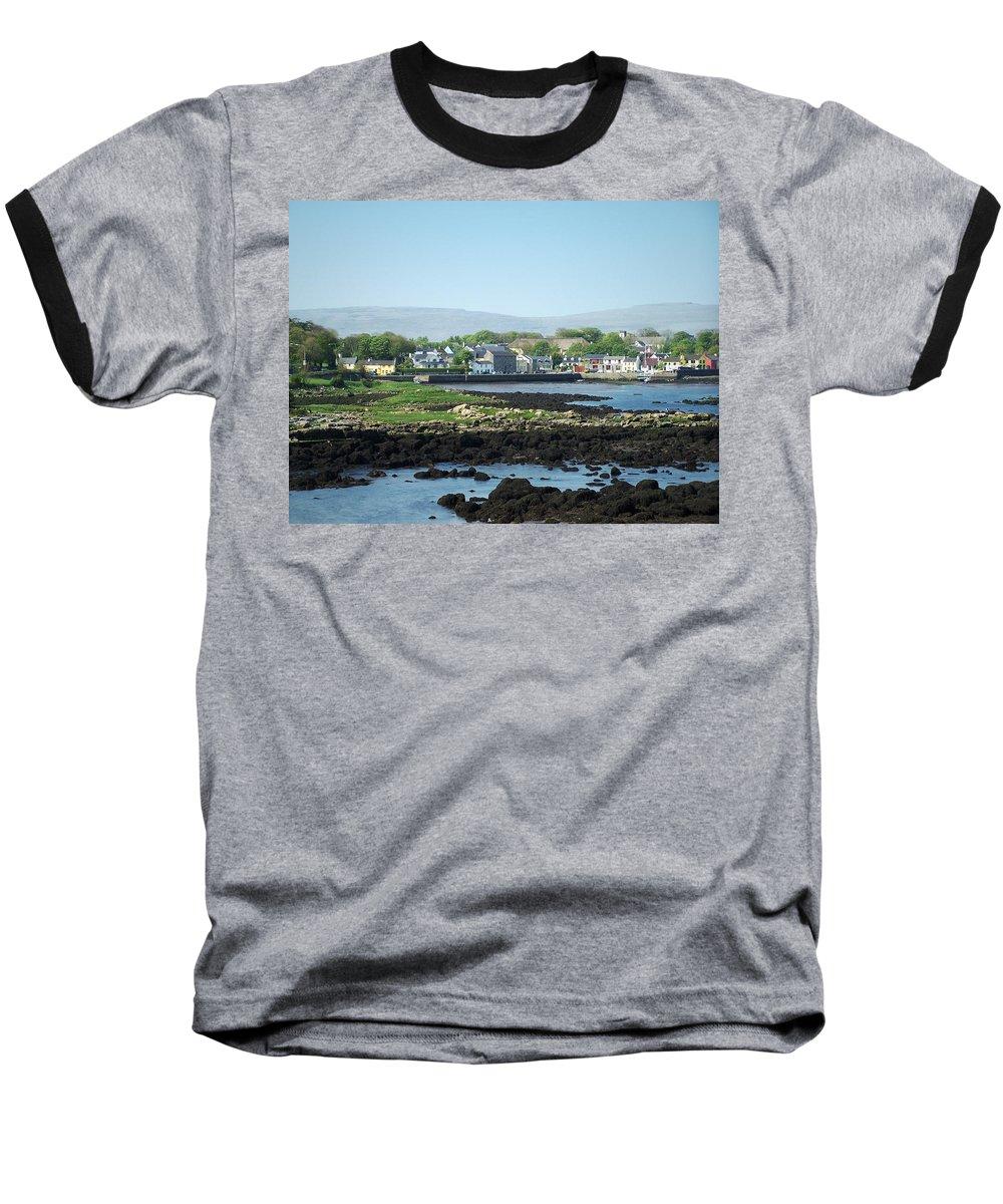 Irish Baseball T-Shirt featuring the photograph Kinvara Seaside Village Galway Ireland by Teresa Mucha