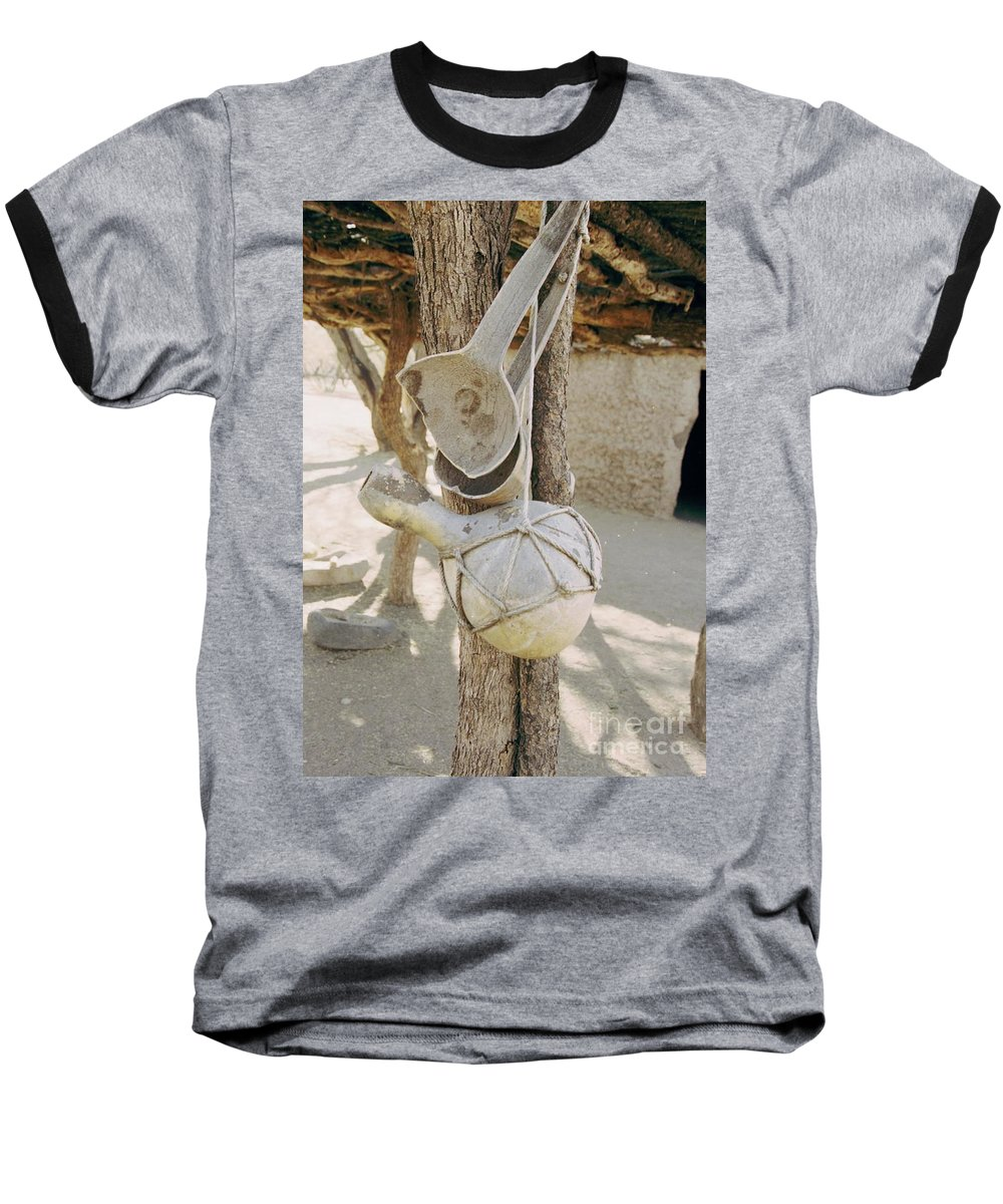 Tumacacori Baseball T-Shirt featuring the photograph Kitchen Utensils by Kathy McClure