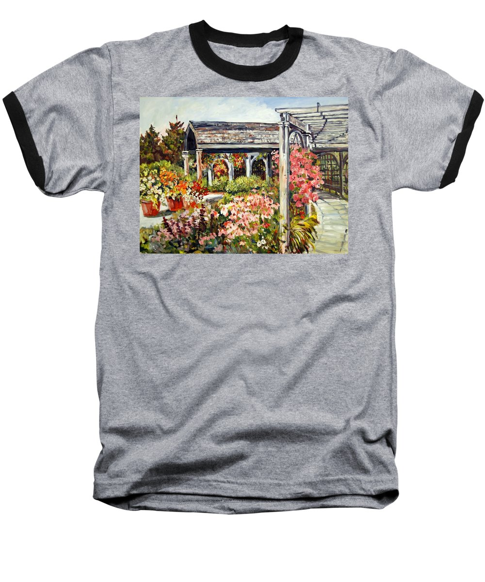 Landscape Baseball T-Shirt featuring the painting Klehm Arboretum I by Alexandra Maria Ethlyn Cheshire