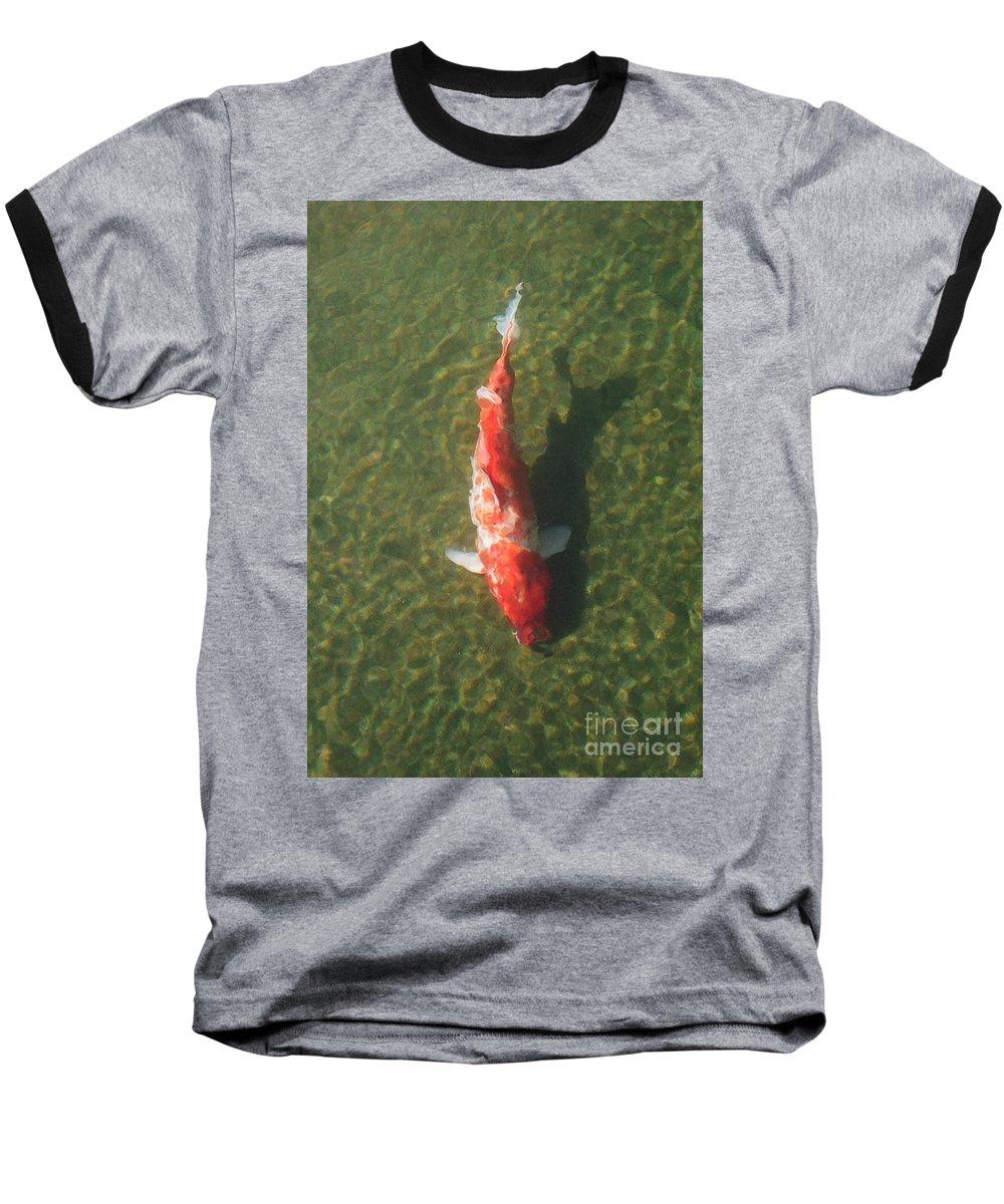 Koi Baseball T-Shirt featuring the photograph Koi by Dean Triolo