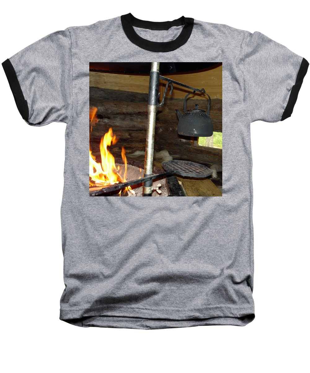 Kota Baseball T-Shirt featuring the photograph Kota Kitchen In Lapland by Merja Waters