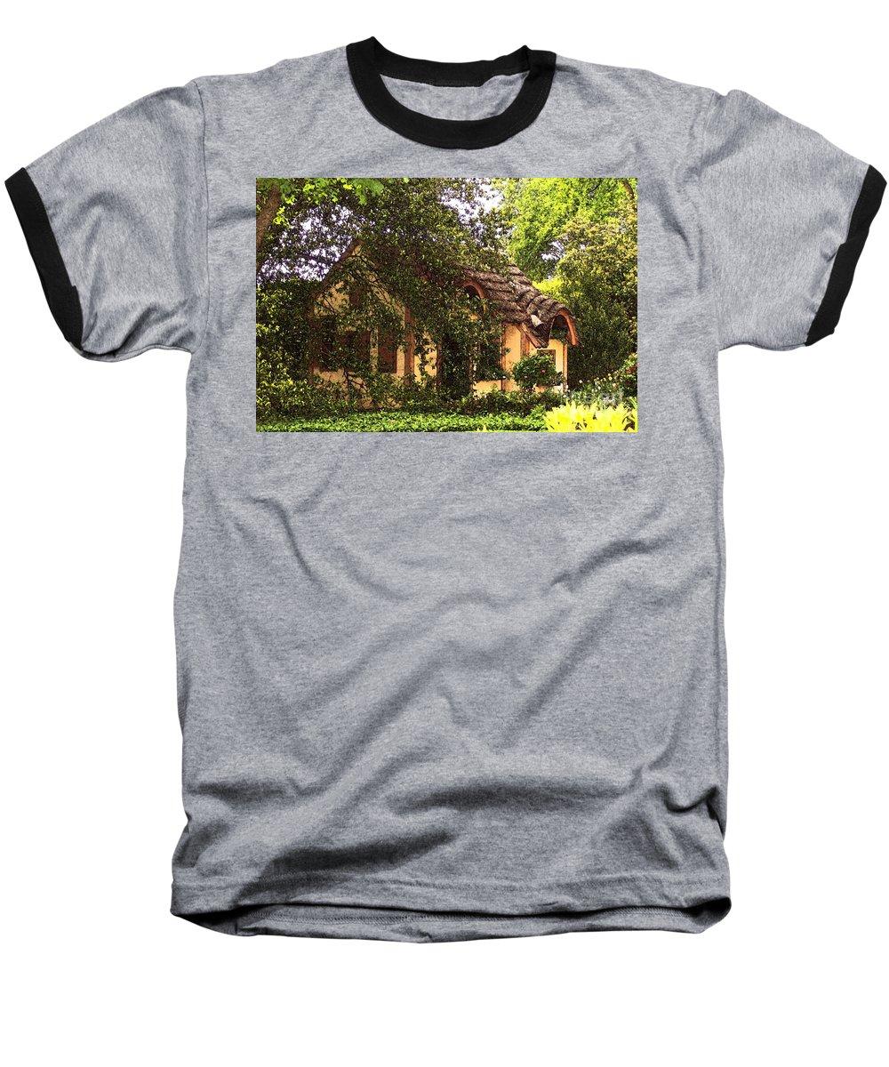 Cottage Baseball T-Shirt featuring the photograph La Maison by Debbi Granruth