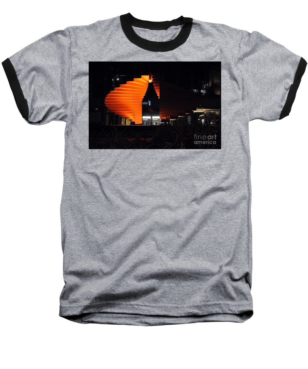 Clay Baseball T-Shirt featuring the photograph L.a. Nights by Clayton Bruster