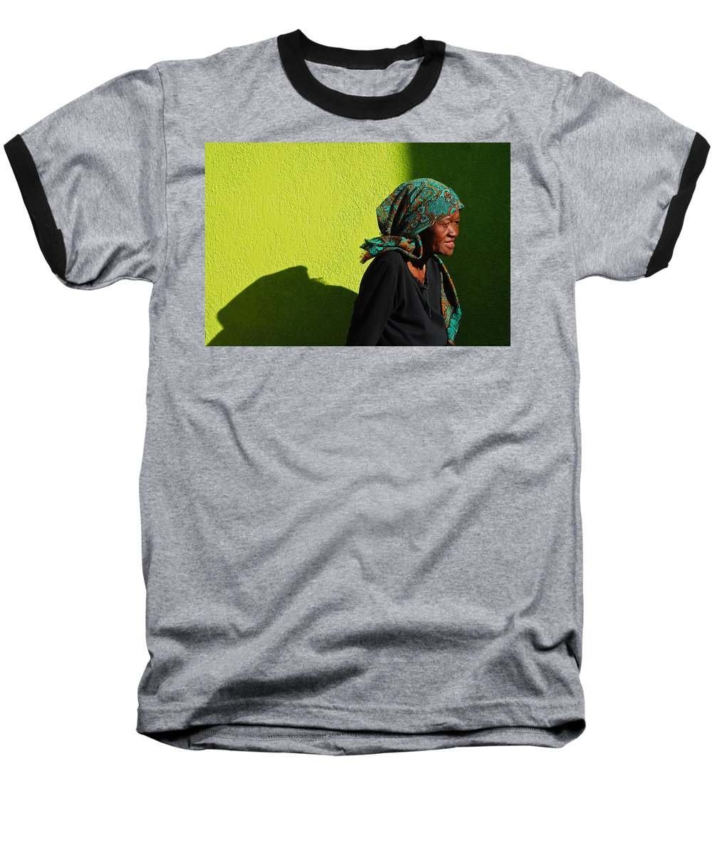 Africa Baseball T-Shirt featuring the photograph Lady In Green by Skip Hunt