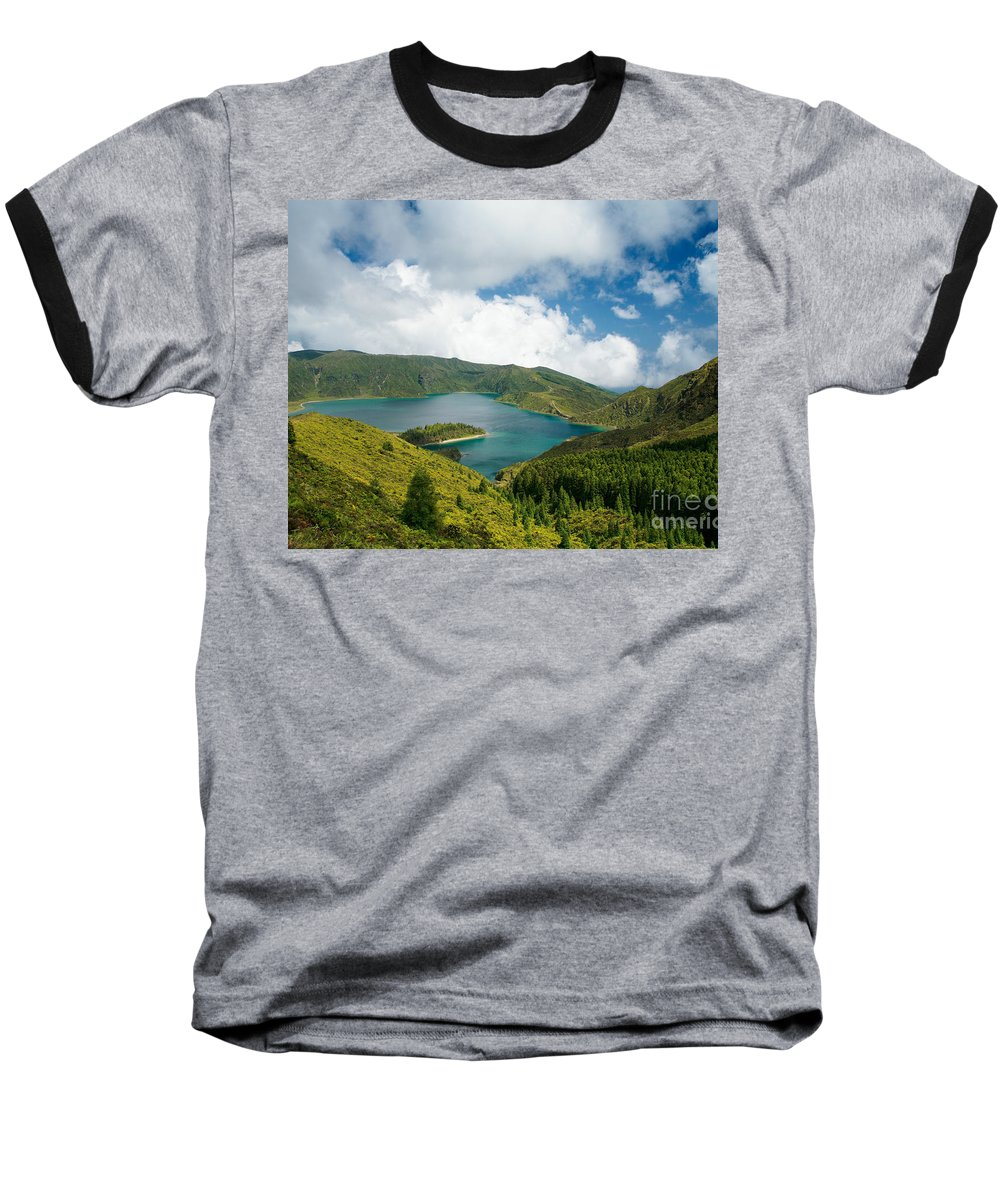 Lagoa Do Fogo Baseball T-Shirt featuring the photograph Lagoa Do Fogo by Gaspar Avila