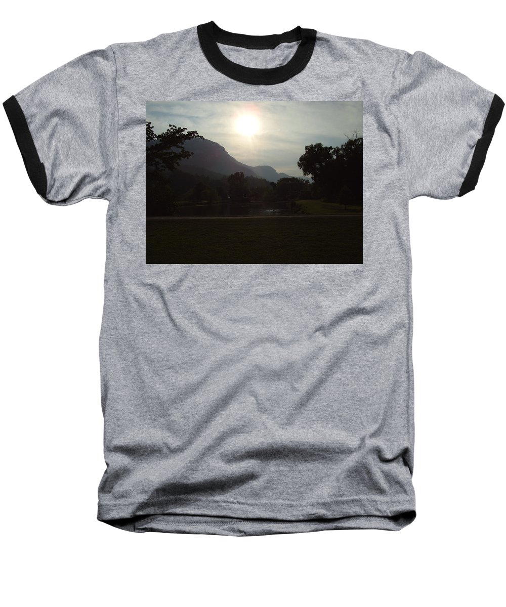 Lake Lure Baseball T-Shirt featuring the photograph Lake Lure by Flavia Westerwelle
