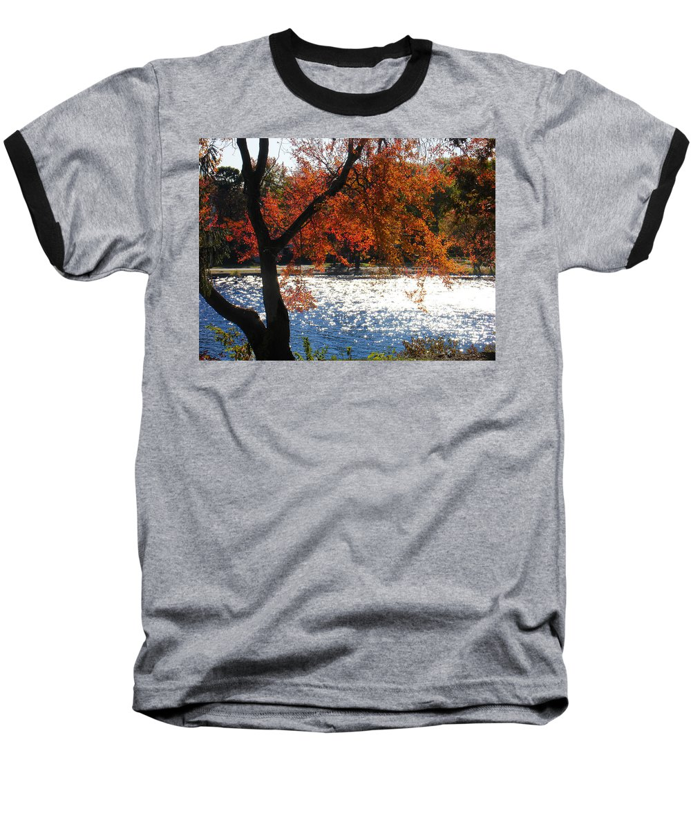Landscape Baseball T-Shirt featuring the photograph Lakewood by Steve Karol
