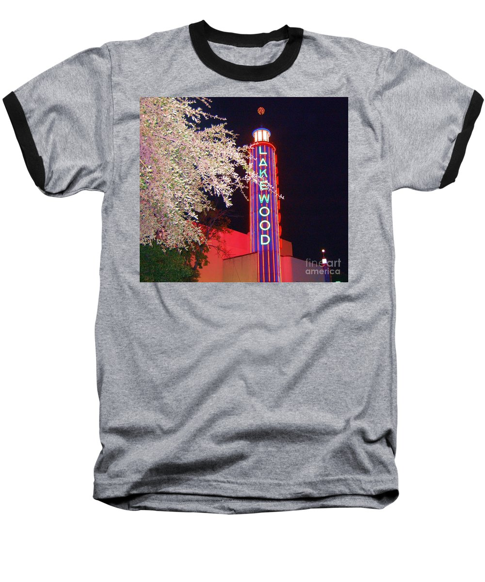 Theater Baseball T-Shirt featuring the photograph Lakewood Theater by Debbi Granruth