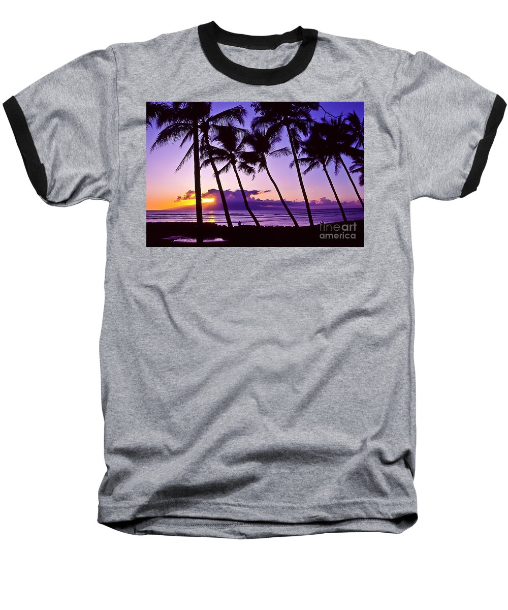 Landscapes Baseball T-Shirt featuring the photograph Lanai Sunset by Jim Cazel