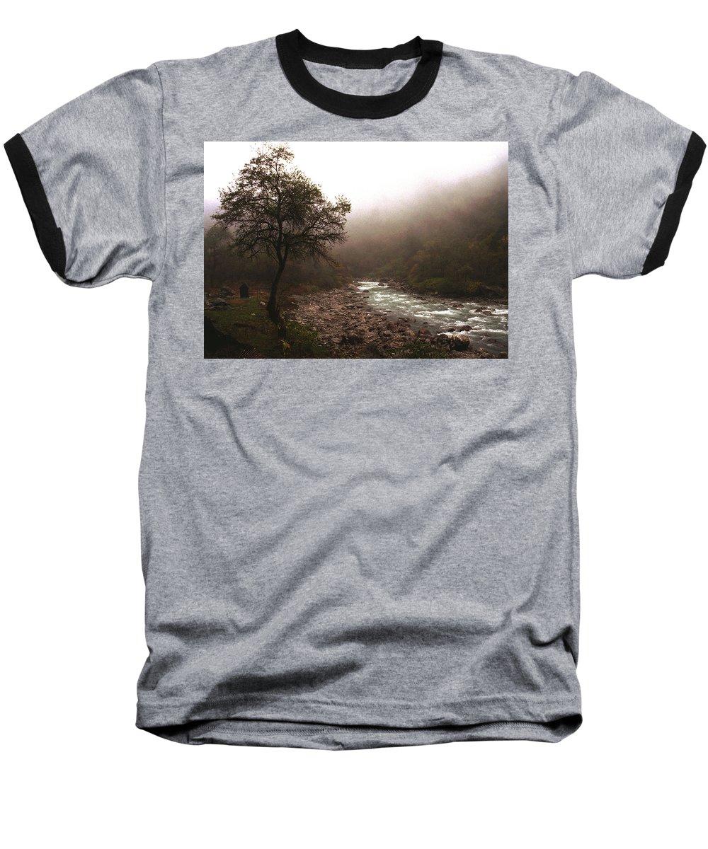 Tree Baseball T-Shirt featuring the photograph Langtang Morning by Patrick Klauss