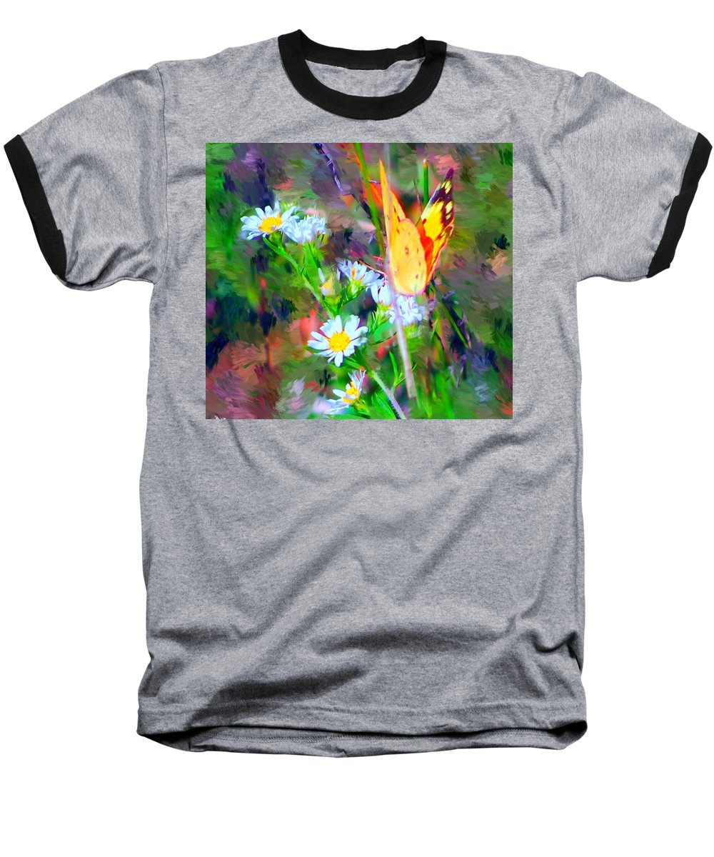 Landscape Baseball T-Shirt featuring the painting Last Of The Season by David Lane