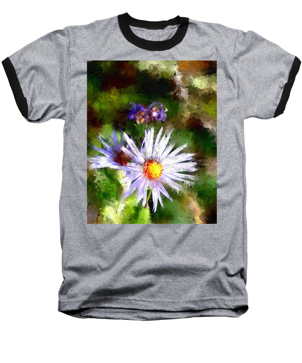 Flower Baseball T-Shirt featuring the photograph Last Rose Of Summer by David Lane