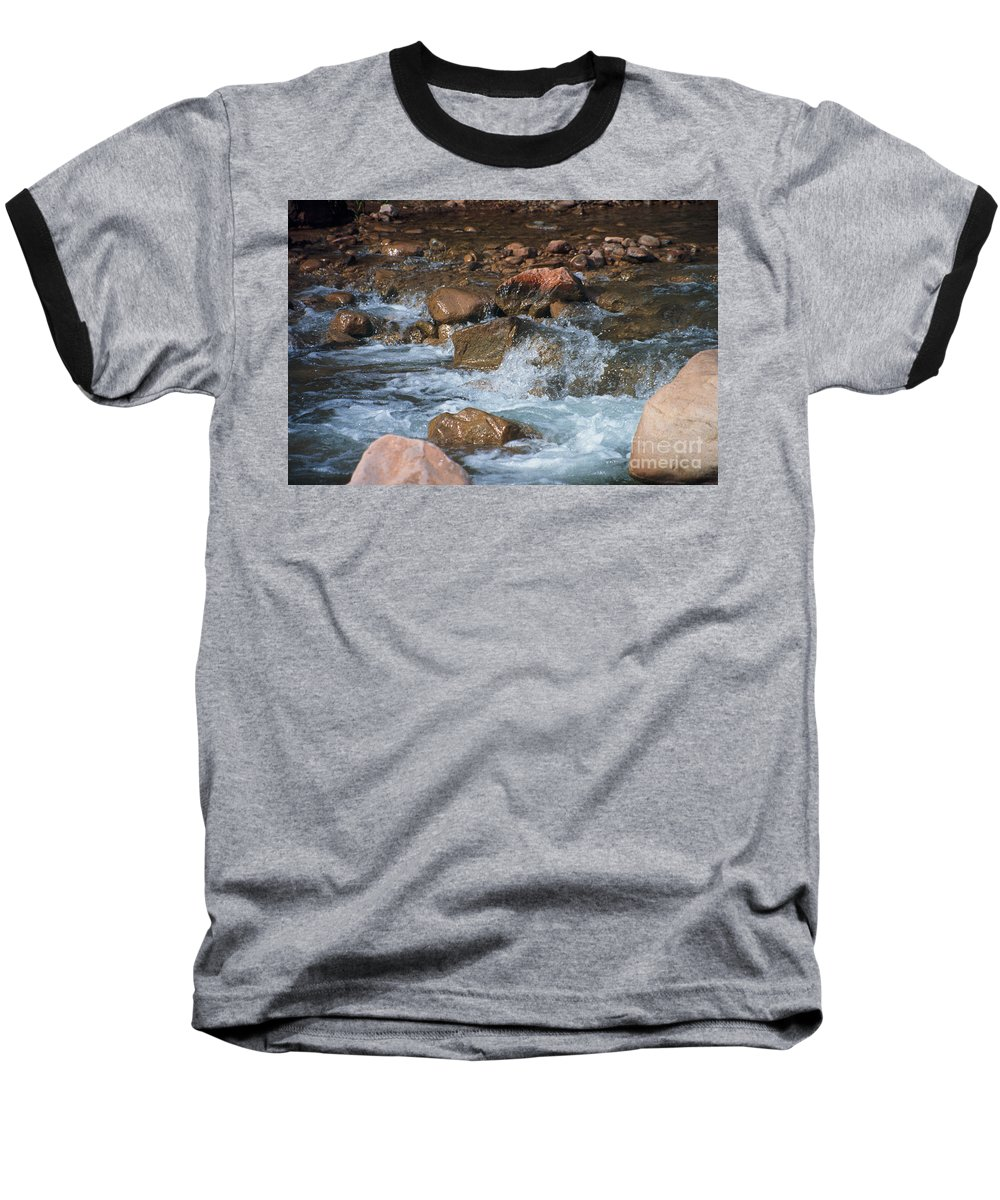 Creek Baseball T-Shirt featuring the photograph Laughing Water by Kathy McClure