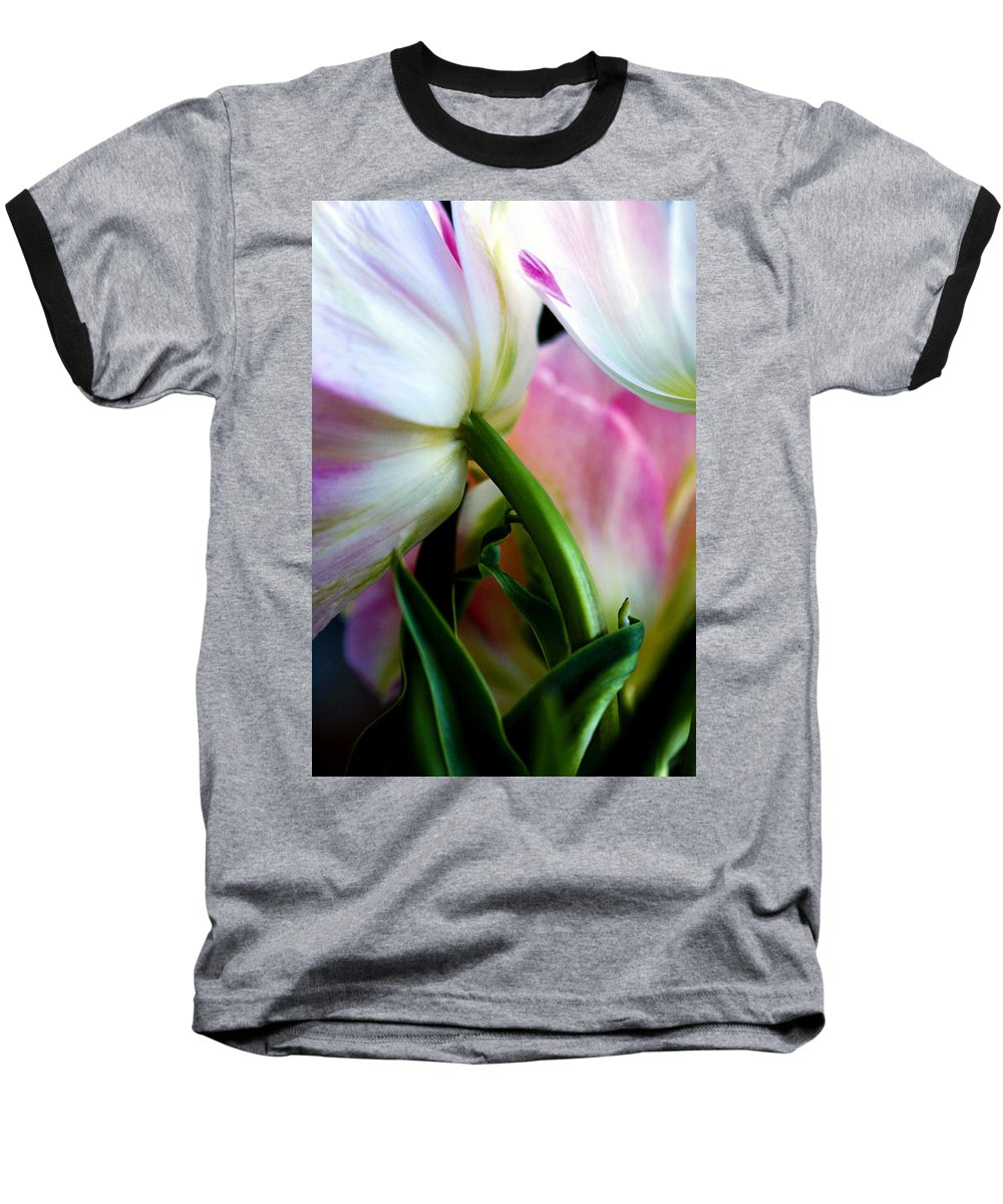 Flower Baseball T-Shirt featuring the photograph Layers Of Tulips by Marilyn Hunt