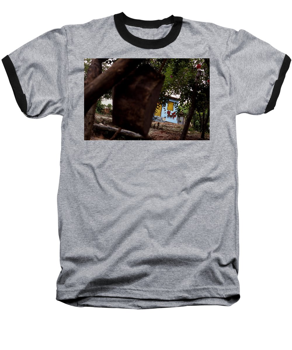 Dog Baseball T-Shirt featuring the photograph Lencois - Dog by Patrick Klauss