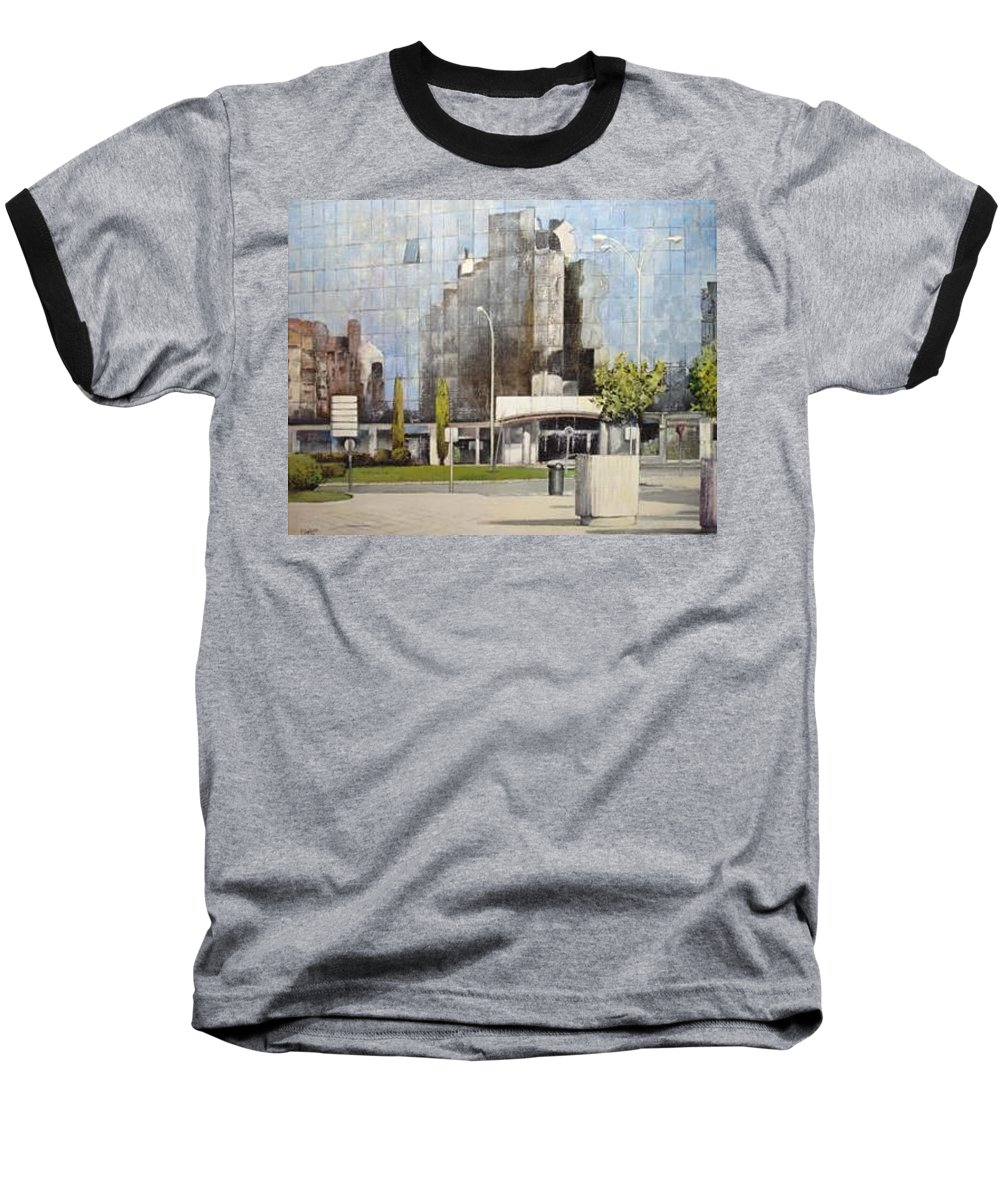 Leon Baseball T-Shirt featuring the painting Leon by Tomas Castano