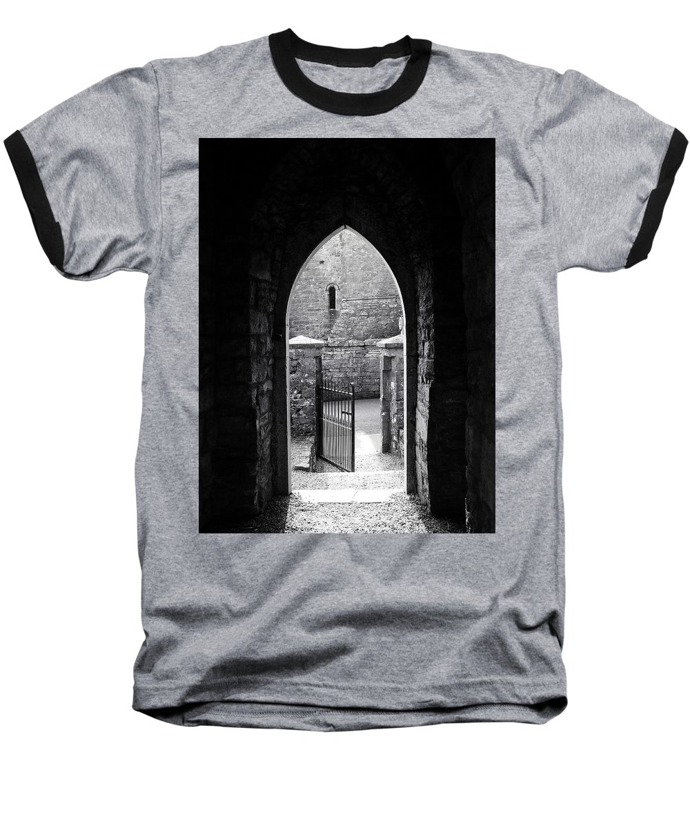 Irish Baseball T-Shirt featuring the photograph Let There Be Light Cong Church And Abbey Cong Ireland by Teresa Mucha