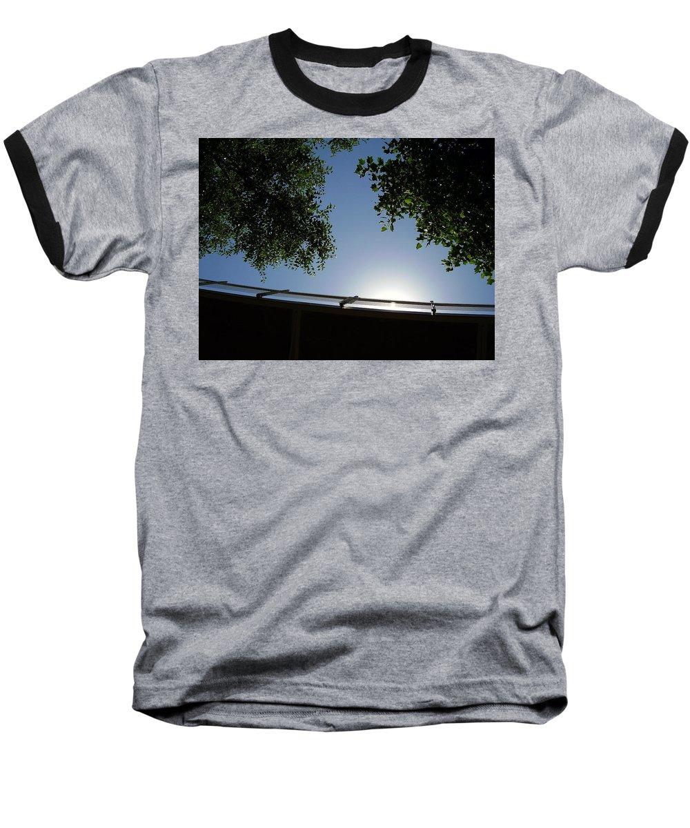 Liberty Bridge Baseball T-Shirt featuring the photograph Liberty Bridge by Flavia Westerwelle