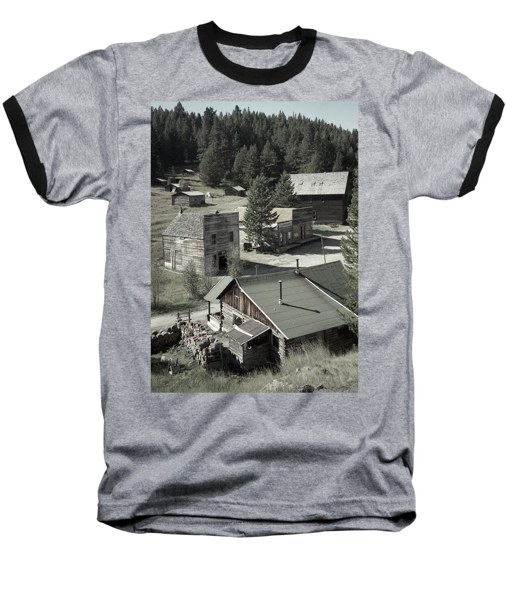 Ghost Towns Baseball T-Shirt featuring the photograph Life In A Ghost Town by Richard Rizzo