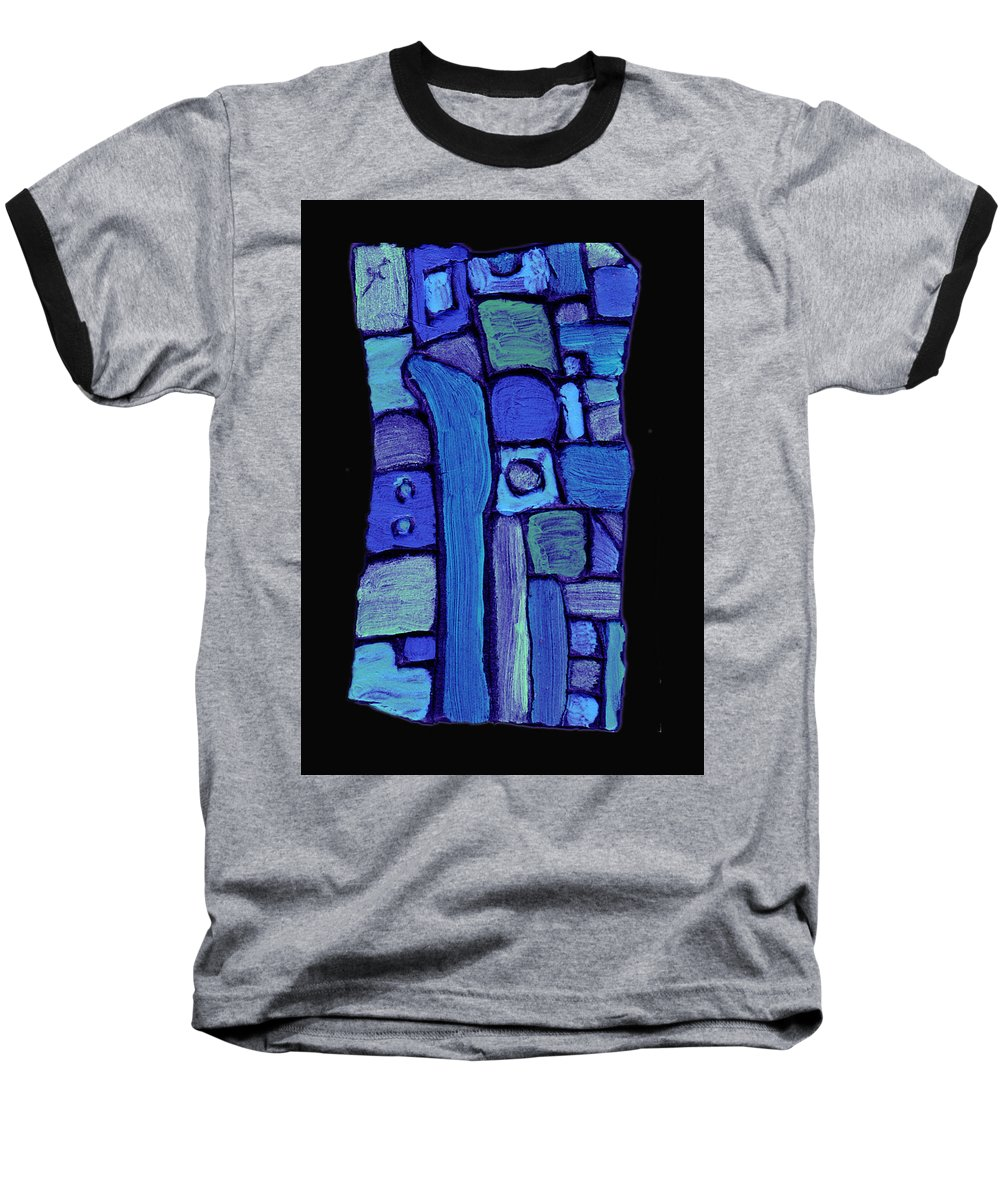 Abstract Baseball T-Shirt featuring the painting Life In The Pond by Wayne Potrafka