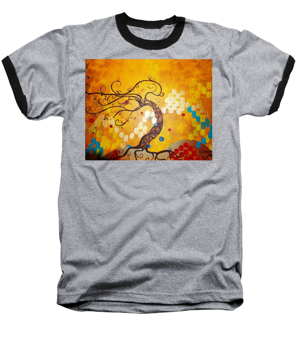 Baseball T-Shirt featuring the painting Life Is A Ball by Stefan Duncan