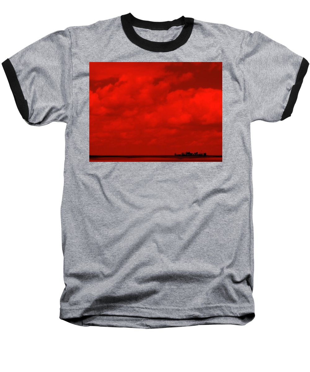 Sky Baseball T-Shirt featuring the photograph Life On Mars by Ed Smith