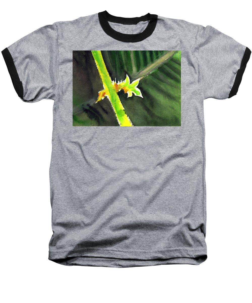 Water Color Baseball T-Shirt featuring the painting Light Branch by Anil Nene