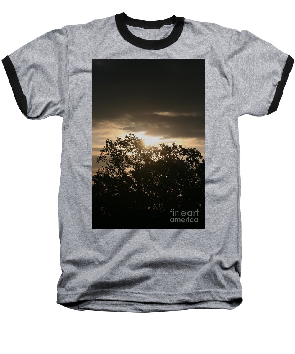 Light Baseball T-Shirt featuring the photograph Light Chasing Away The Darkness by Nadine Rippelmeyer