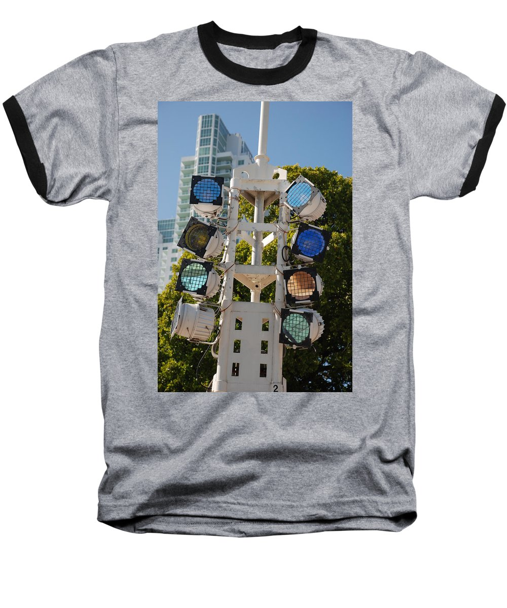 Lights Baseball T-Shirt featuring the photograph Lights by Rob Hans