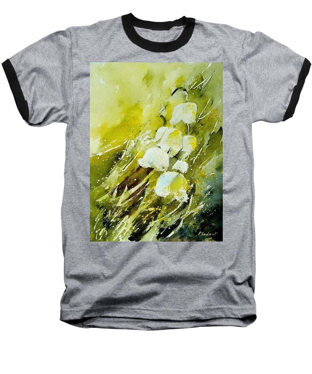 Flowers Baseball T-Shirt featuring the painting Lilly Of The Valley by Pol Ledent