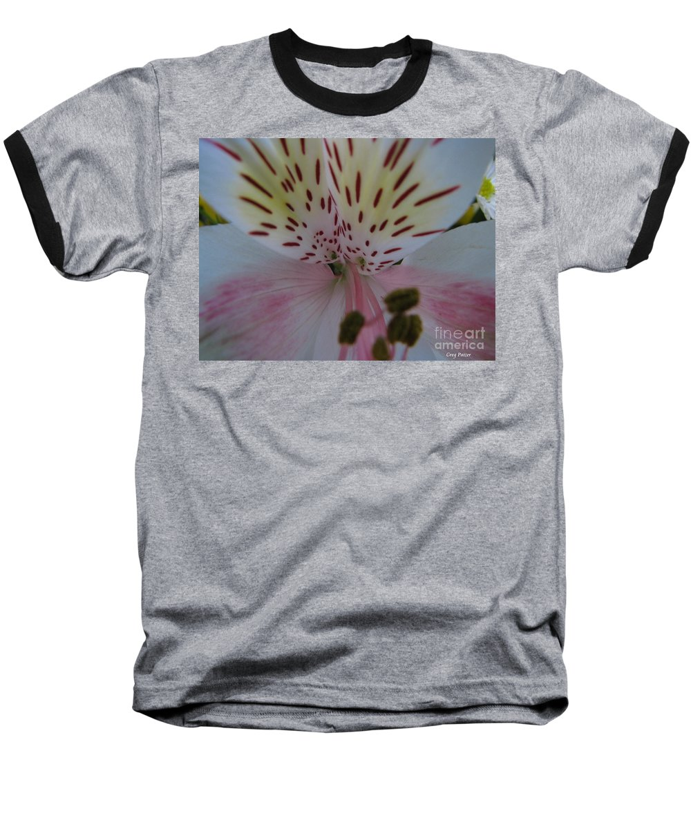 Patzer Baseball T-Shirt featuring the photograph Lily by Greg Patzer