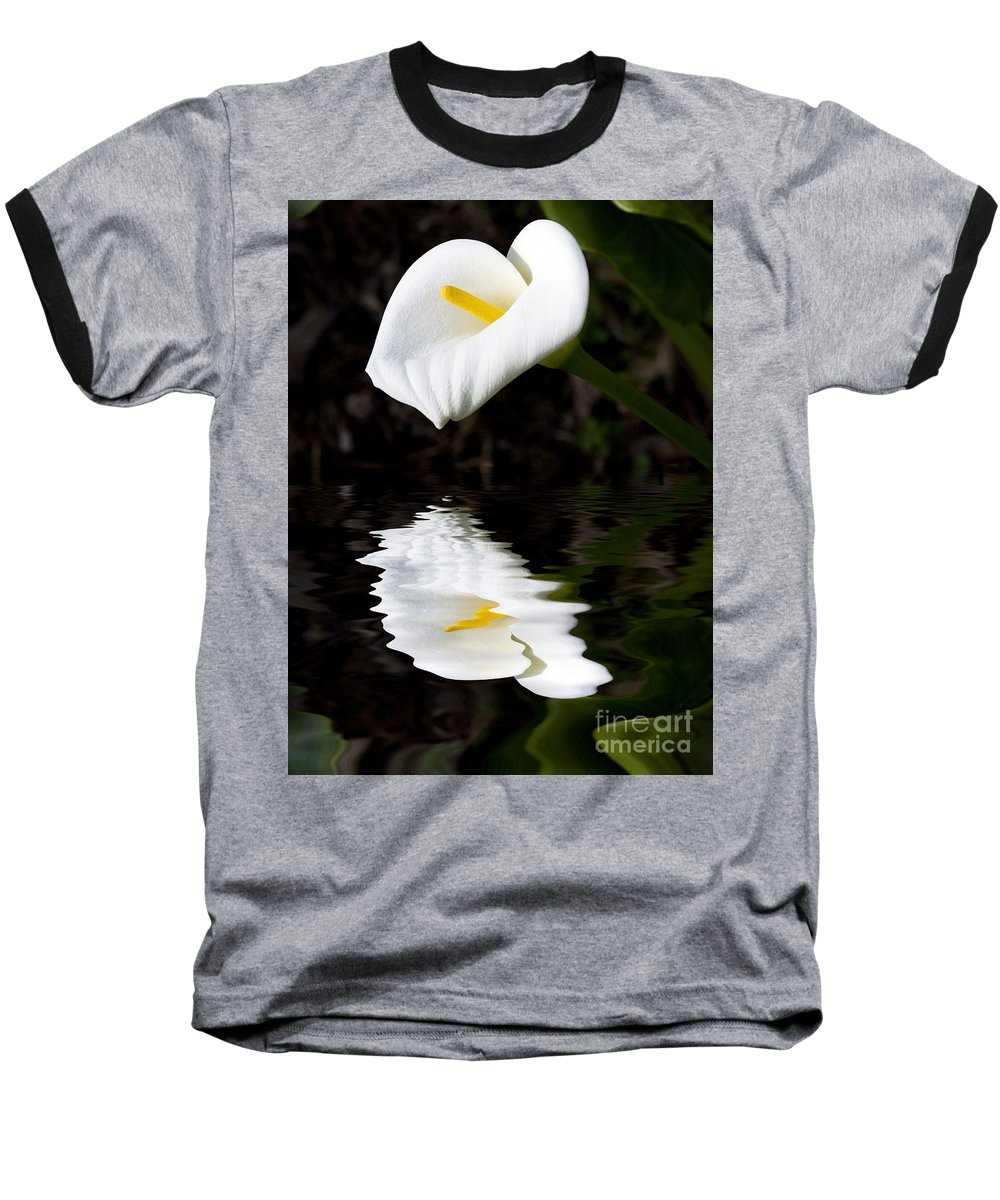 Lily Reflection Flora Flower Baseball T-Shirt featuring the photograph Lily Reflection by Sheila Smart Fine Art Photography
