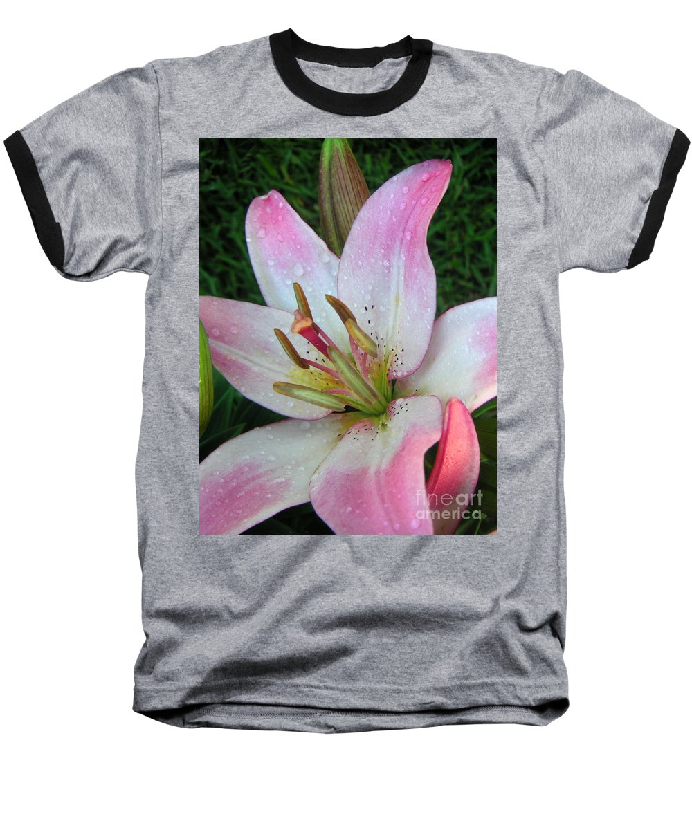 Nature Baseball T-Shirt featuring the photograph Lily Singled Out by Lucyna A M Green