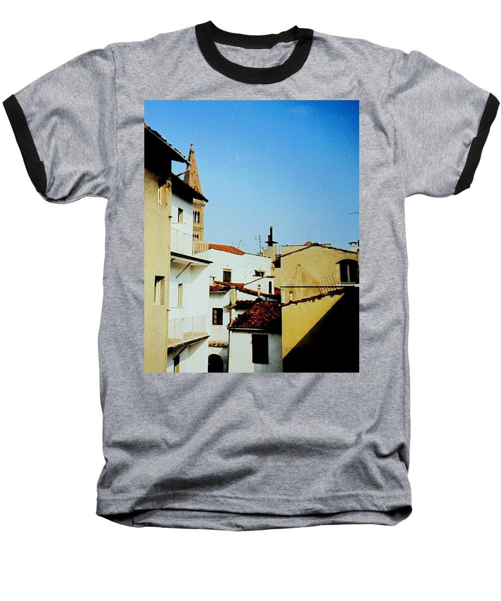 Lisbon Baseball T-Shirt featuring the photograph Lisbon Angles by Ian MacDonald