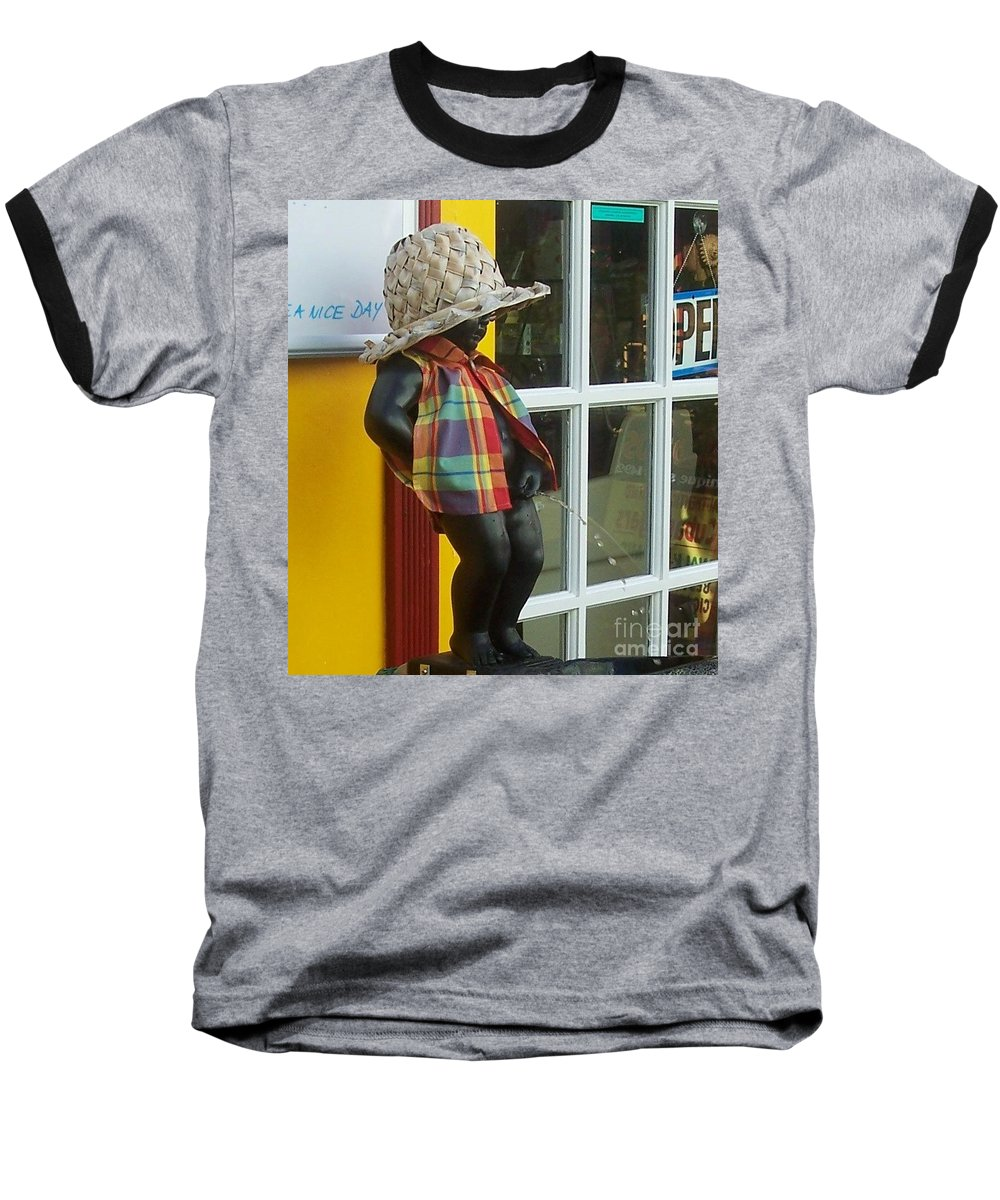 Fountain Baseball T-Shirt featuring the photograph Little Wiz by Debbi Granruth