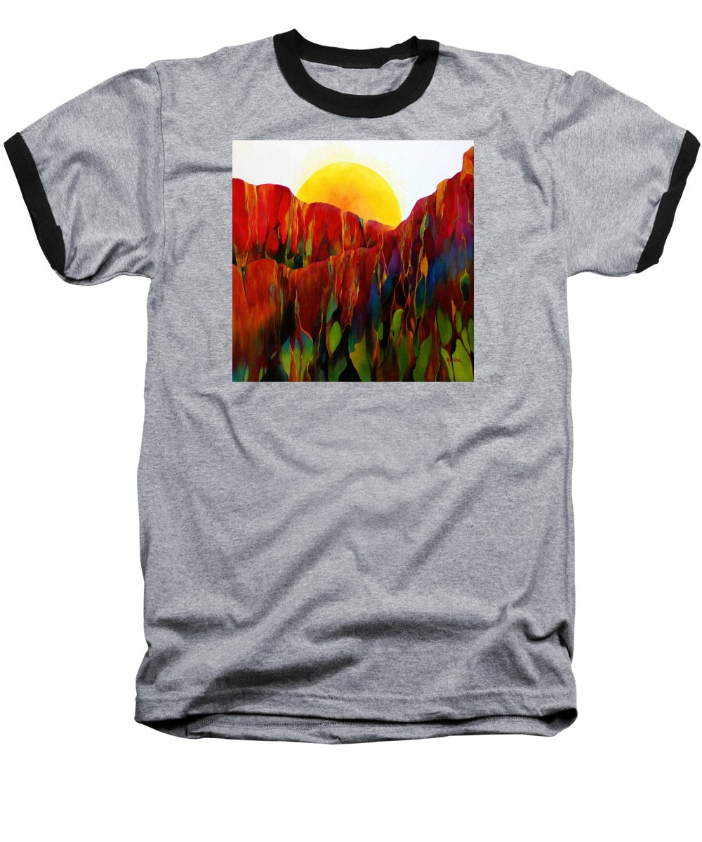 Oil Baseball T-Shirt featuring the painting Living Earth by Peggy Guichu