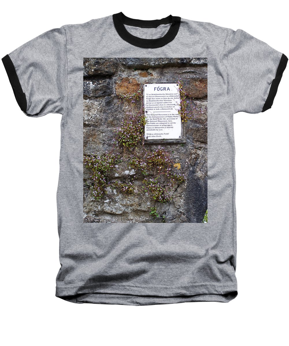 Irish Baseball T-Shirt featuring the photograph Living Wall At Donegal Castle Ireland by Teresa Mucha