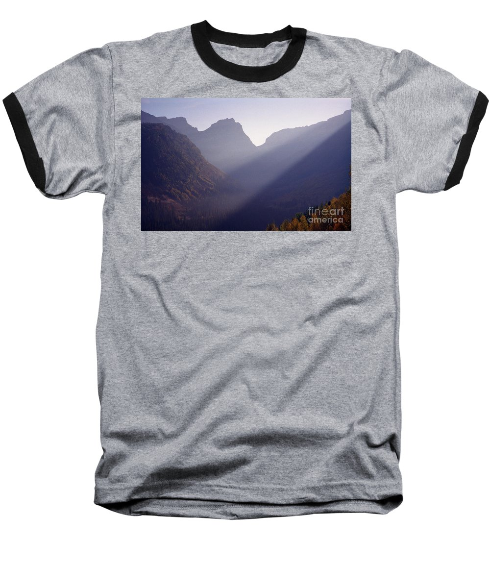 Mountains Baseball T-Shirt featuring the photograph Logan Pass by Richard Rizzo