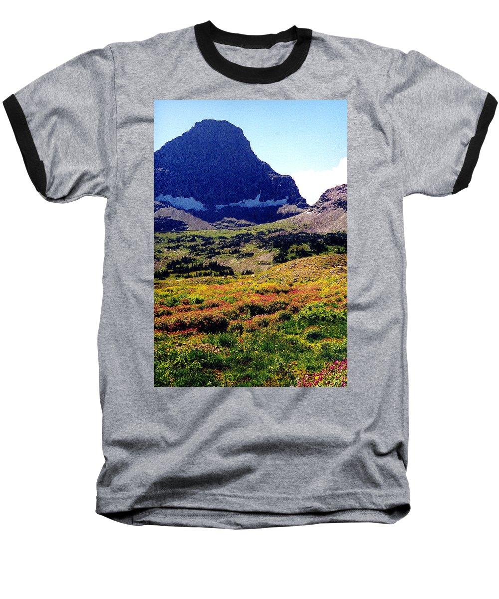 Glacier National Park Baseball T-Shirt featuring the photograph Logans Pass In Glacier National Park by Nancy Mueller