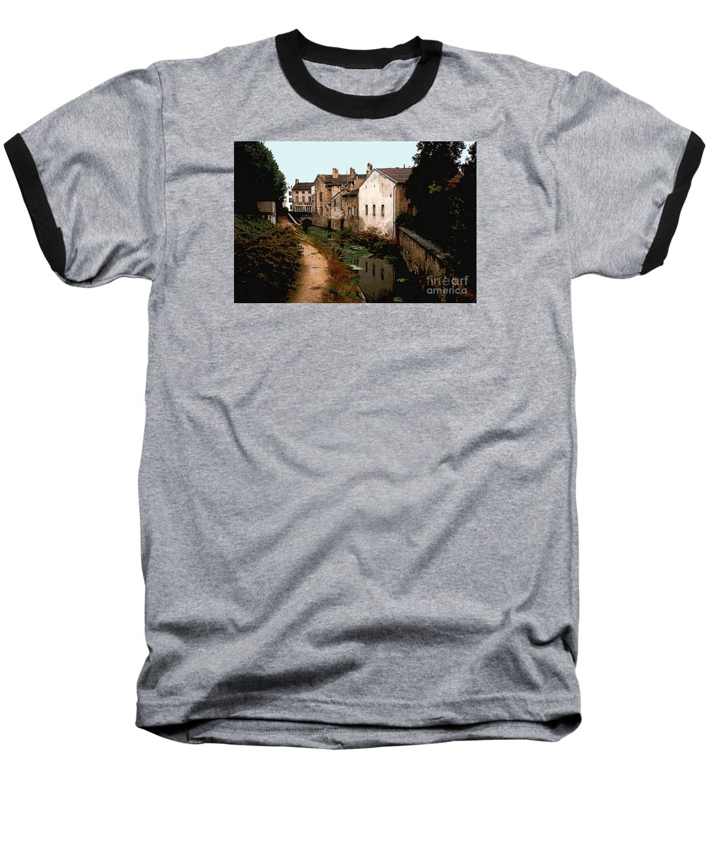 France Baseball T-Shirt featuring the photograph Loire Valley Village Scene by Nancy Mueller