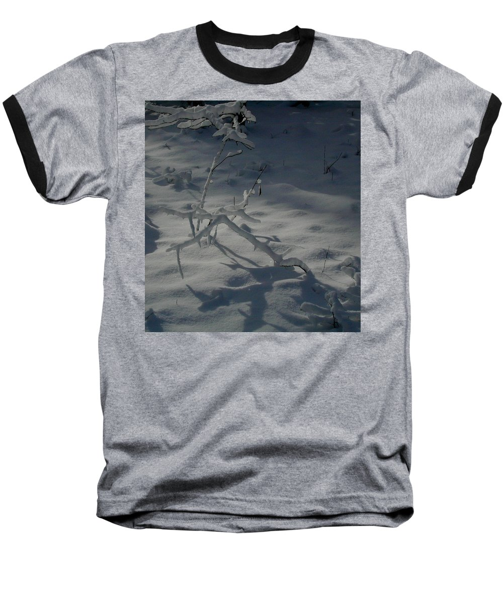 Loneliness Baseball T-Shirt featuring the photograph Loneliness In The Cold by Douglas Barnett