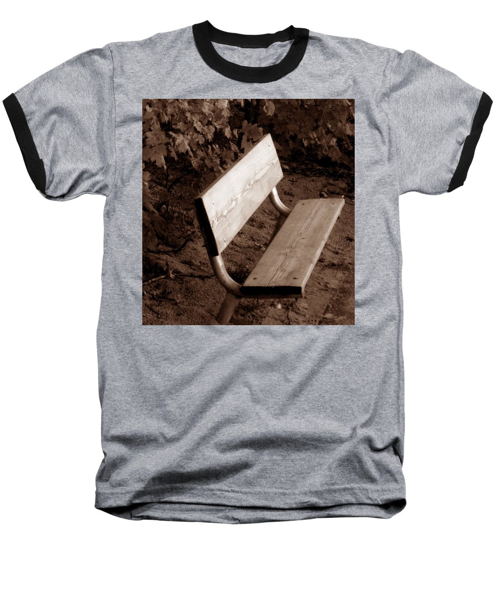 Lonliness Baseball T-Shirt featuring the photograph Lonely by Wayne Potrafka