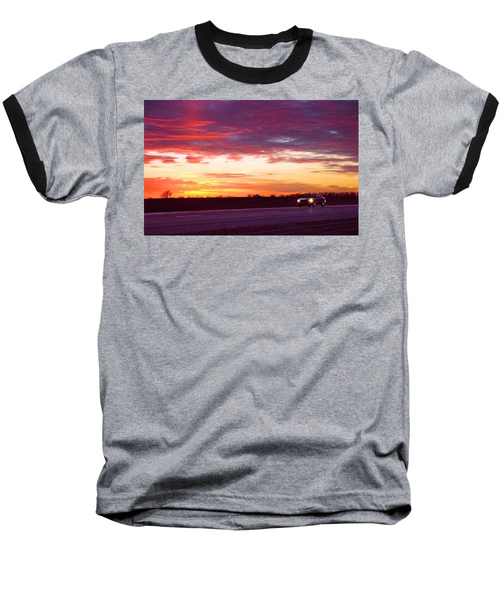 Landscape Baseball T-Shirt featuring the photograph Lonesome Highway by Steve Karol