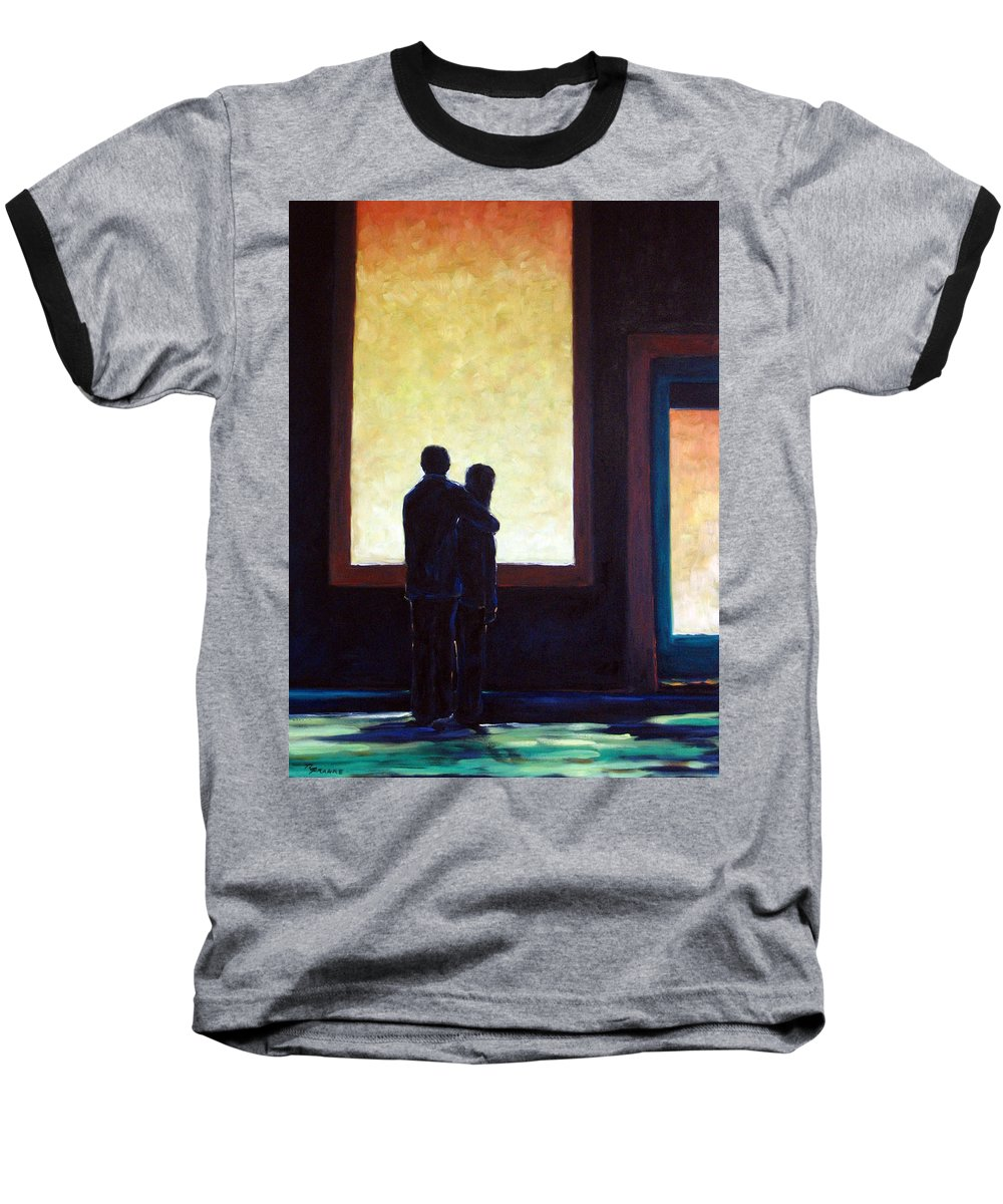 Pranke Baseball T-Shirt featuring the painting Looking In Looking Out by Richard T Pranke