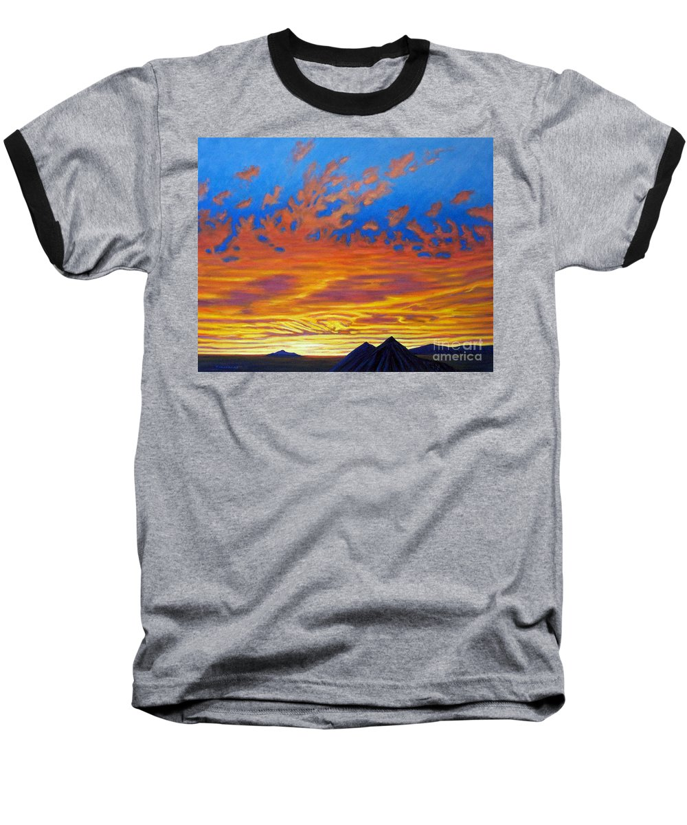 Landscape Baseball T-Shirt featuring the painting Looking To The Southwest by Brian Commerford