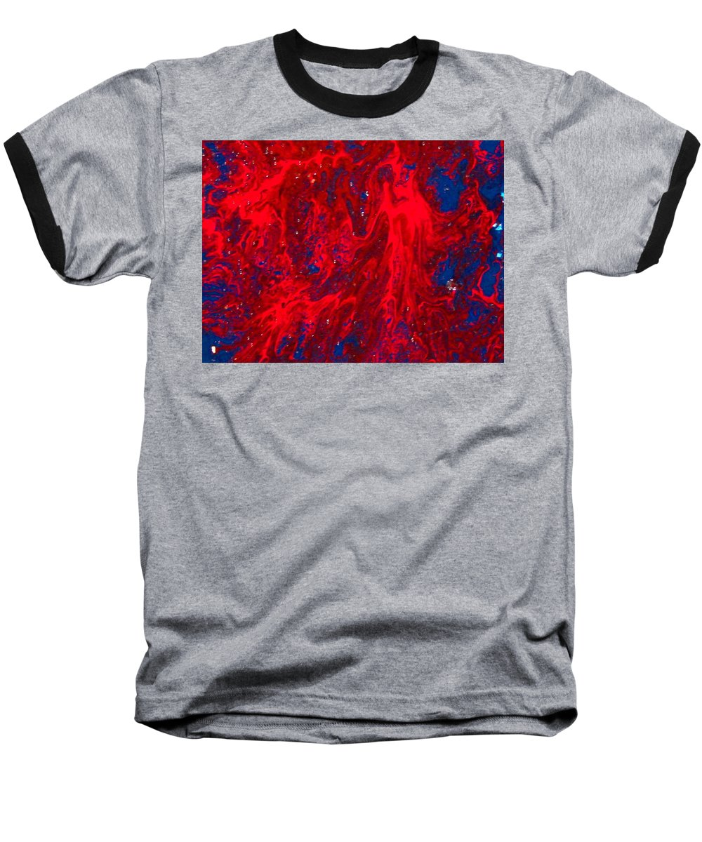 Abstract Art Baseball T-Shirt featuring the painting Lost Souls by Natalie Holland