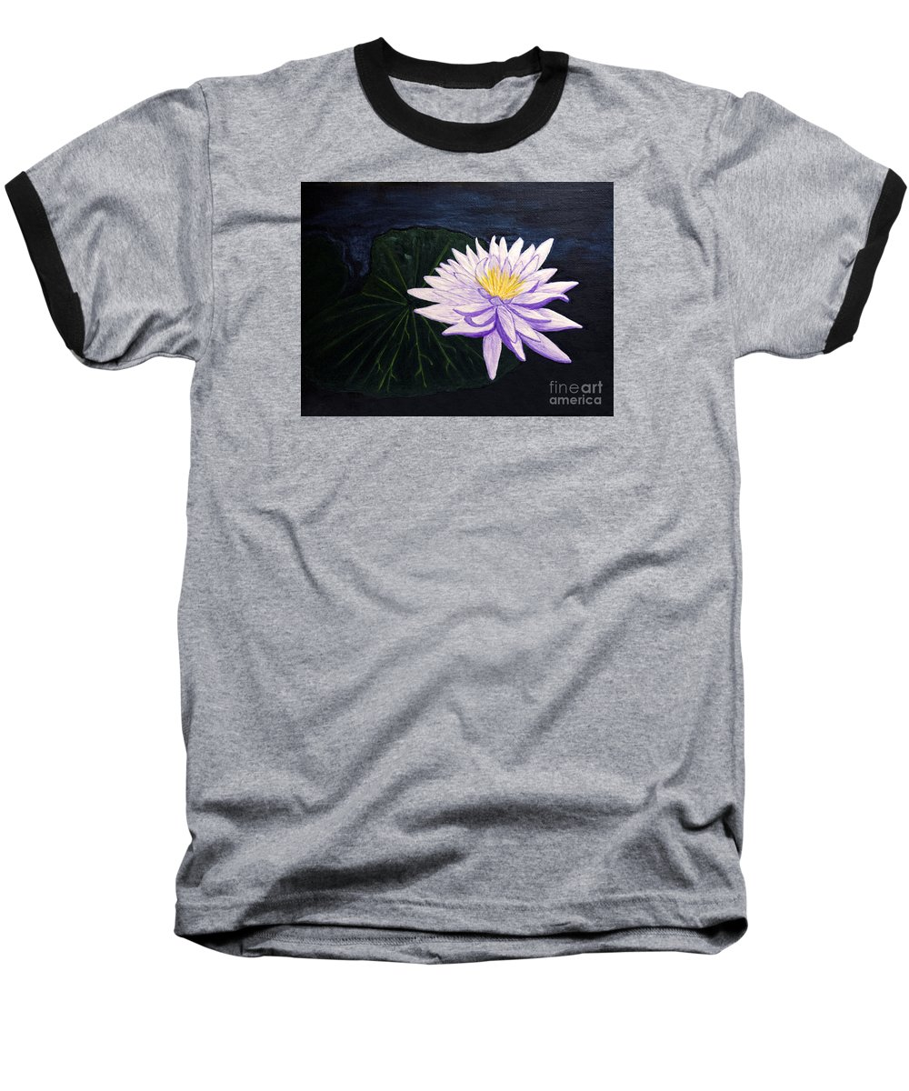 Original Painting Baseball T-Shirt featuring the painting Lotus Blossom At Night by Patricia Griffin Brett