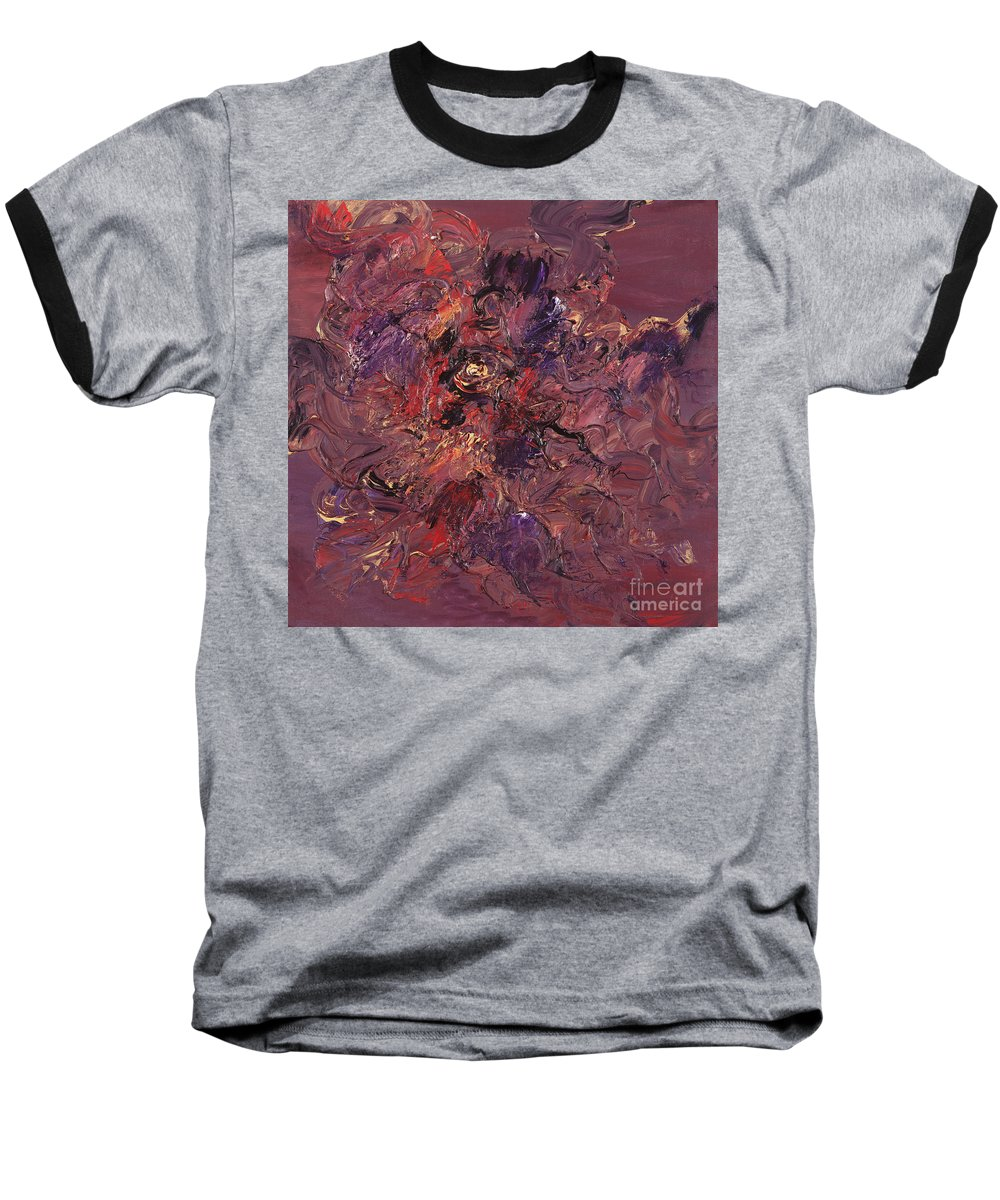 Love Baseball T-Shirt featuring the painting Love by Nadine Rippelmeyer