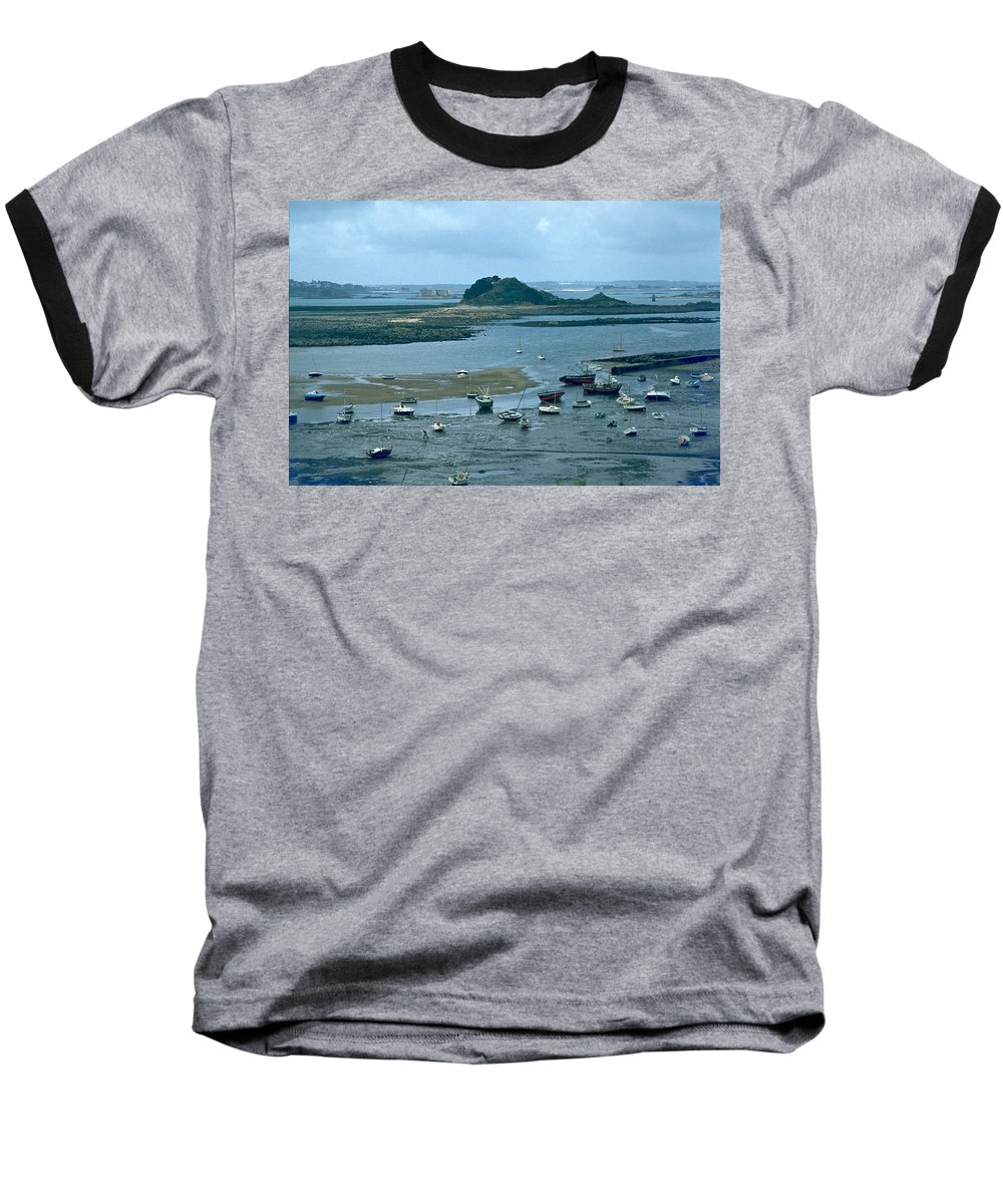 Low Tide Baseball T-Shirt featuring the photograph Low Tide by Flavia Westerwelle