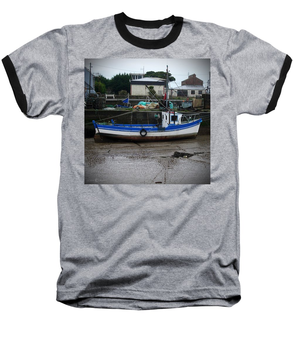 Boat Baseball T-Shirt featuring the photograph Low Tide by Tim Nyberg